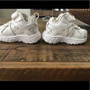 White Nike toddler sneakers